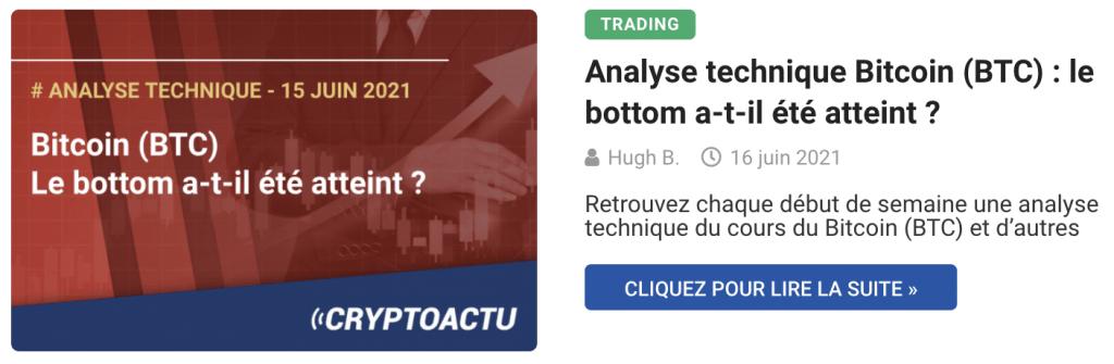 Analyse technique Bitcoin (BTC) : le bottom a-t-il été atteint ?