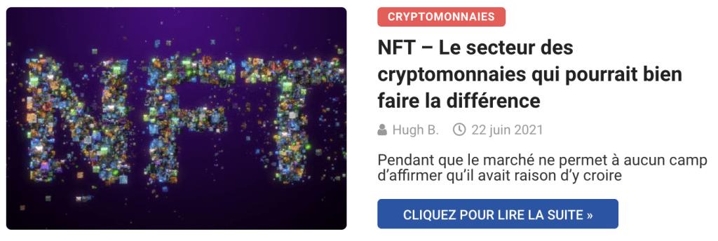 NFT – Le secteur des cryptomonnaies qui pourrait bien faire la différence