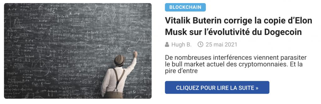 Vitalik Buterin corrige la copie d'Elon Musk sur l'évolutivité du Dogecoin