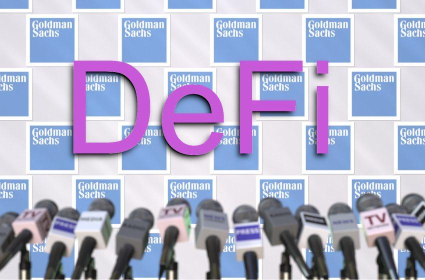Goldman Sachs postule pour un ETF appliqué au secteur de la DeFi