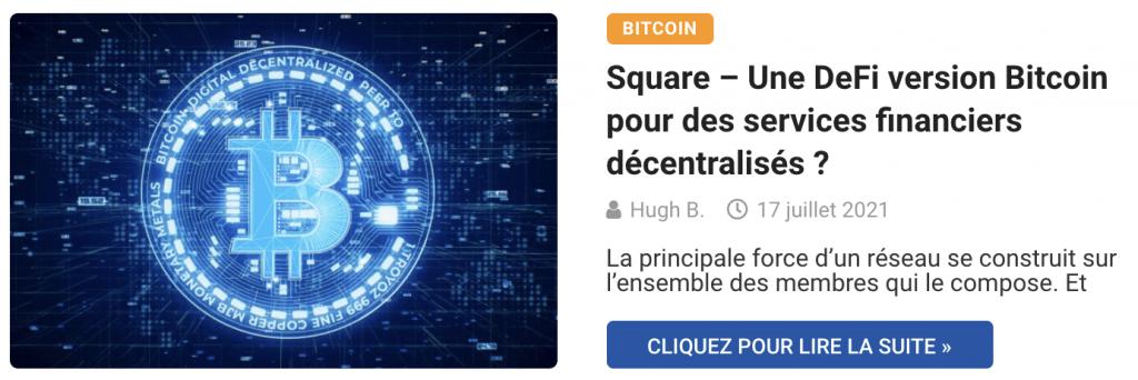 Square – Une DeFi version Bitcoin pour des services financiers décentralisés ?
