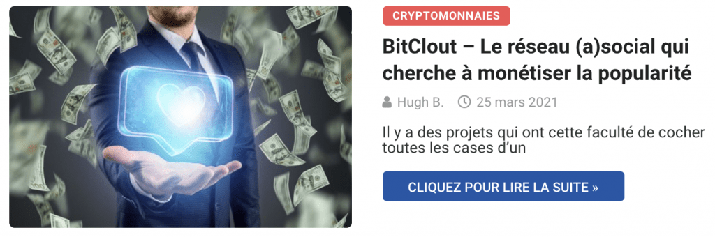 BitClout - Le réseau (a)social qui veut monétiser la popularité