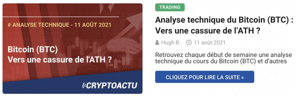 Analyse technique du Bitcoin (BTC) : Vers une cassure de l'ATH ?