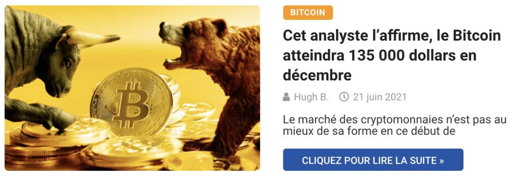 Cet analyste l'affirme, le Bitcoin atteindra 135 000 dollars en décembre