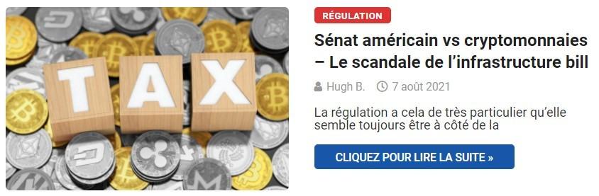 Sénat américain vs cryptomonnaies – Le scandale de l'infrastructure bill