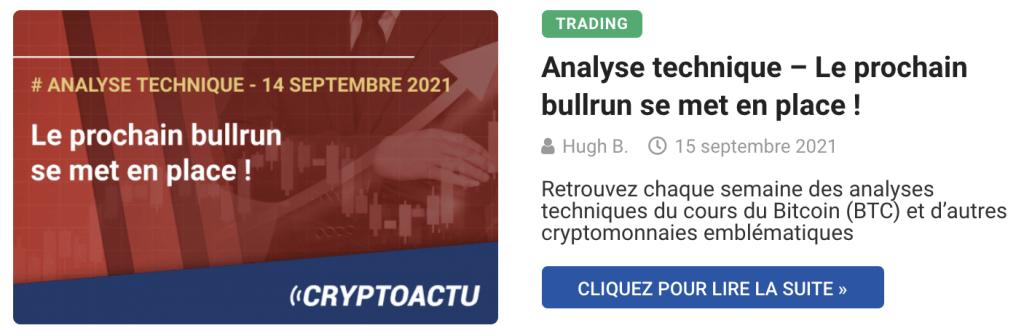 Analyse technique – Le prochain bullrun se met en place !