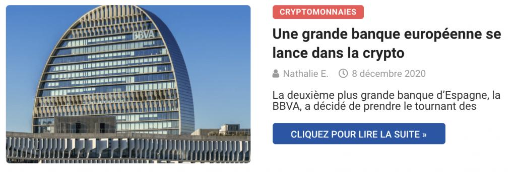 Une grande banque européenne se lance dans la crypto
