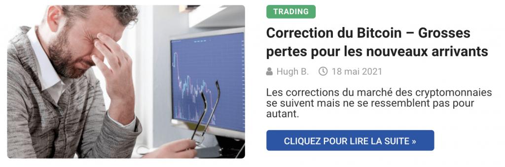 Correction du Bitcoin – Grosses pertes pour les nouveaux arrivants