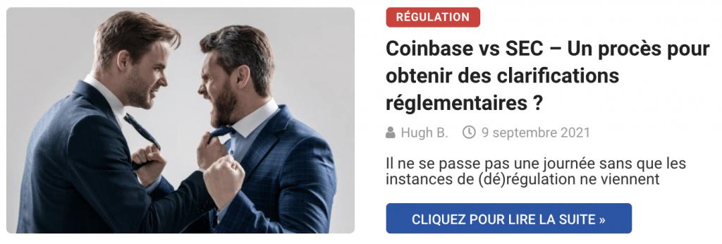 Coinbase vs SEC – Un procès pour obtenir des clarifications réglementaires ?