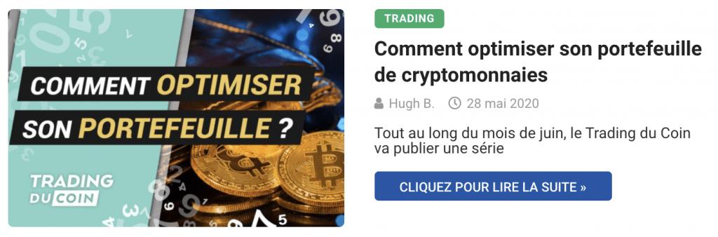 Comment optimiser son portefeuille de cryptomonnaies