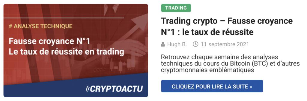 Trading crypto – Fausse croyance N°1 : le taux de réussite