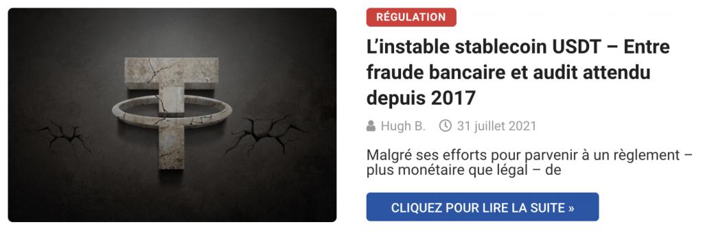 L'instable stablecoin USDT – Entre fraude bancaire et audit attendu depuis 2017