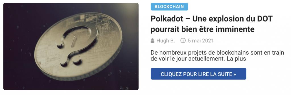 Polkadot – Une explosion du DOT pourrait bien être imminente