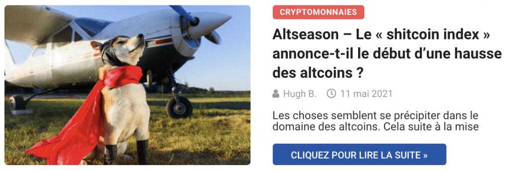 Altseason – Le « shitcoin index » annonce-t-il le début d'une hausse des altcoins ?