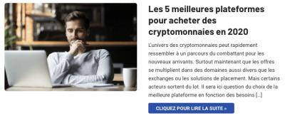 Les 5 meilleures plateformespour acheter des cryptomonnaies