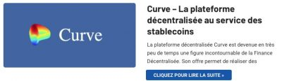Plateforme Curve stablecoins