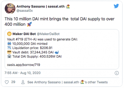 L'offre de DAI atteint les 4 millions