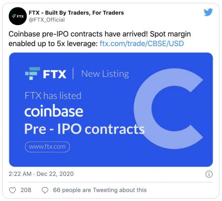 FTX et contrats à terme sur Coinbase