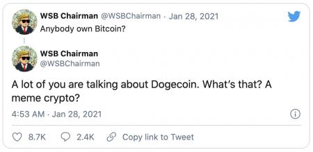Hausse du Dogecoin DOGE