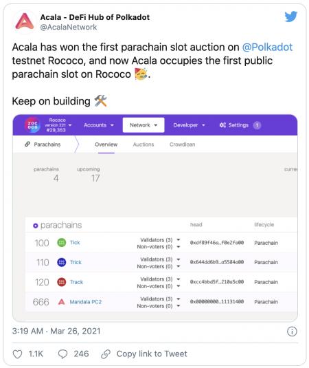 Acala Network parachain de Polkadot