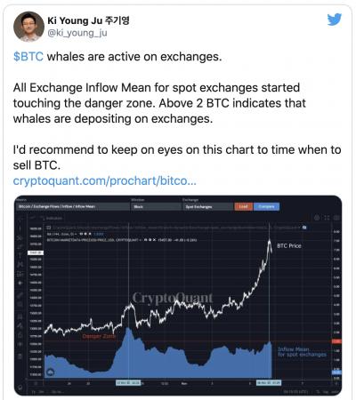 Le Bitcoin dans une zone de danger