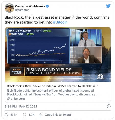 Bitcoin - Le leader mondial Blackrock annonce avoir