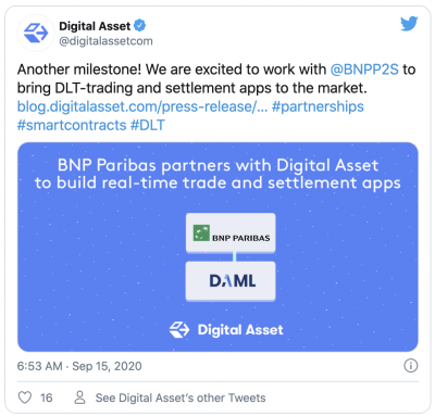 BNP Paribas et Digital Assets smart contracts