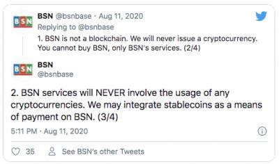 Le réseau BSN chinois intègre les stablecoins