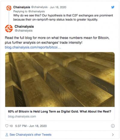 Analyse du Bitcoin par Chainalysis