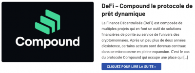 Compound COMP et la DeFi