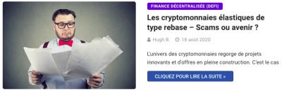 Cryptomonnaies élastiques rebase