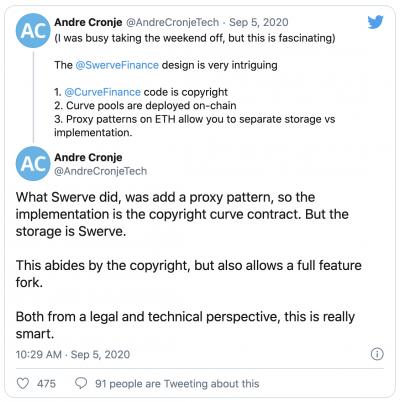 Swerve copie le code source de Curve