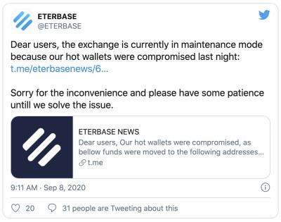 La plateforme Eterbase victime d'une attaque