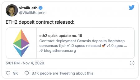 Lancement du staking pour Ethereum 2.0