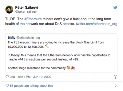 Augmentation de la limite de gas sur Ethereum