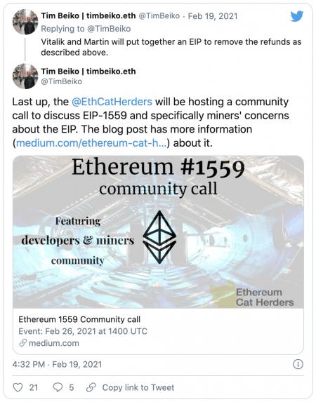 Le racket des frais Ethereum - Un mauvais souvenir grâce à l'EIP-1559 ?