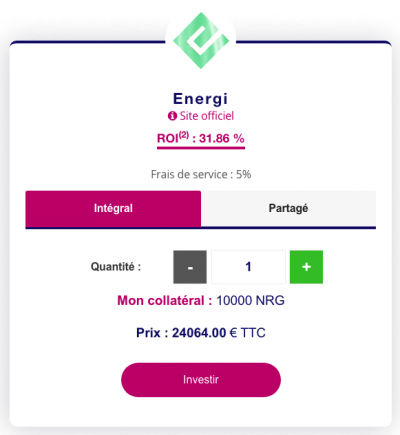 Masternode Energi (NRG) sur Feel Mining