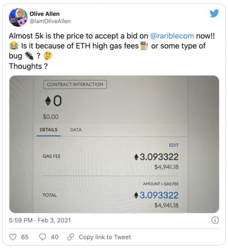 Hausse record des frais sur le réseau Ethereum