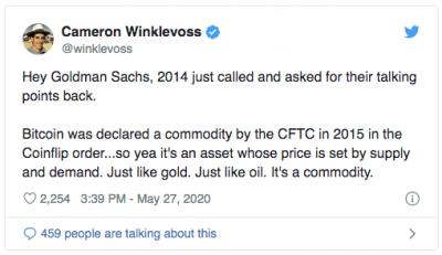 Goldman Sachs rejette le Bitcoin