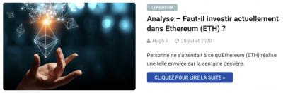 Investir dans Ethereum ETH