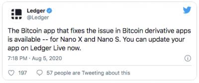 Ledger a réglé la faille Bitcoin