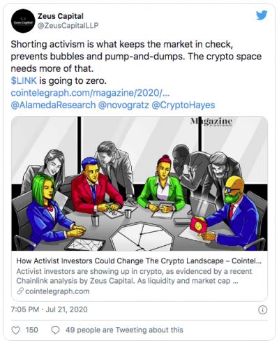 LINK et l'affaire Zeus Capital
