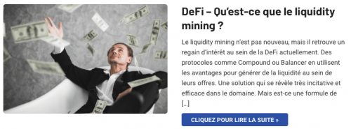 Le liquidity mining et la DeFi