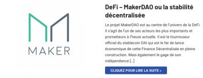 MakerDAO la stabilité décentralisée