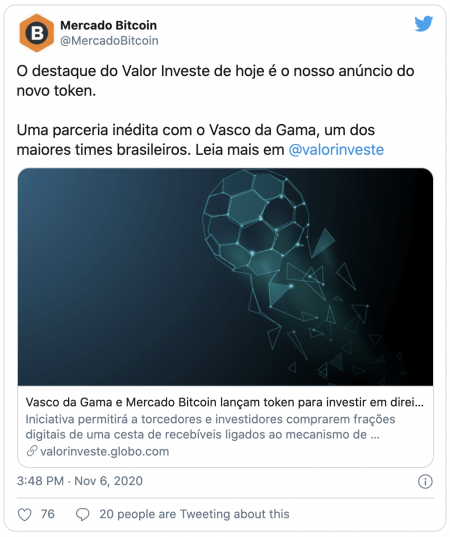 Le club de foot Vasco de Gama va tokeniser ses frais de transfert