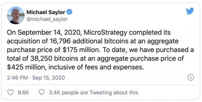 MicroStrategy achète pour 420 millions de dollars de Bitcoin