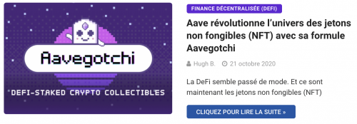 La plateforme Aavegotchi