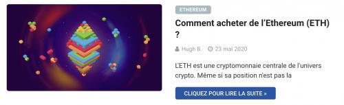 Comment acheter de l'Ethereum ETH