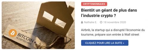 Airbnb envisage de passer à la cryptomonnaie