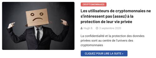 Anonymat et cryptomonnaiess